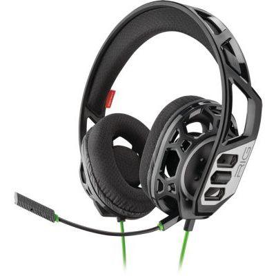 image Plantronics RIG 300 HX Casque avec Microphone et Bandeau Noir Consoles de Jeux Binaural, Bandeau, Noir, Fil, 1,3 m Compatible avec XBX