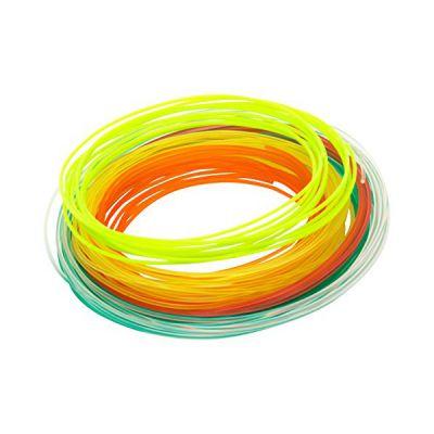 image XYZ PRINTING RFPLDXTW00H - Filament PLA pour stylo 3D - Pack de 6 x 12m (Jaune, rouge, vert, orange, clair, vert menthe)