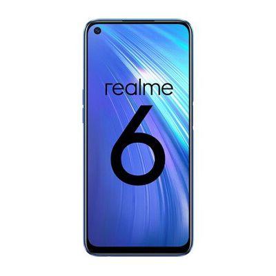 image REALME 6 Bleu Smartphone Débloqué 4G+ - (Ecran : 6,5 Pouces – 8 Go RAM – 128 Go ROM - Double Nano SIM - Android) [Version Française]