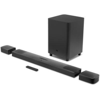 image JBL 9.1 – Barre de son avec caisson de basses et hauts-parleurs sans fil – Connection 4K par arc HDMI ou câble optique – Bluetooth 4.2 – Couleur : Noir