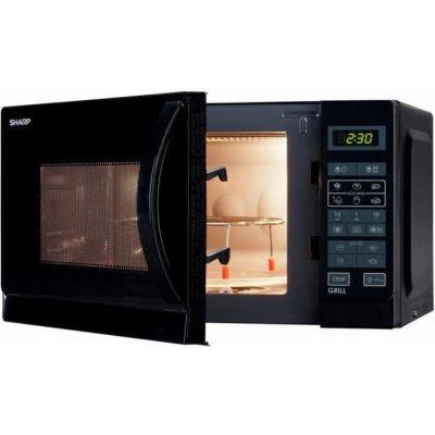 image SHARP R-742BKW - Micro-ondes grill - Noir - 25L - 900 W - Grill 1000 W - Pose libre
