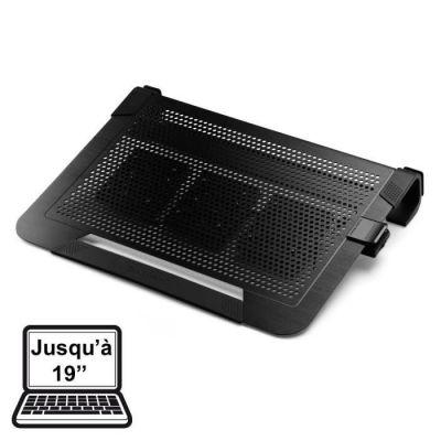 image Cooler Master NotePal U3 PLUS Refroidisseur ordinateur portable - 3 x 80 mm ventilateurs ajustables, protection & mallette de transport, cadre ergonomique en aluminium - Noir