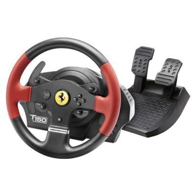image Thrustmaster - Volant T150 Ferrari Force Feedback - Volant 1080° avec Retour de Force - PS4/PS3/PC