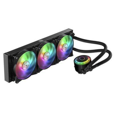 image Cooler Master MasterLiquid ML360R RGB Refroidisseur liquide CPU, synchronisation d'éclairage ARGB, conception de pompe Premium et 3 ventilateurs MF120R ARGB