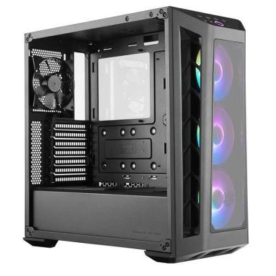 image Cooler Master MasterBox MB530P ARGB - Boîtier Moyen tour PC ATX avec 3 panneaux en verre trempé, 3 x 120 mm ventilateurs pré-installés, flexibles configurations de flux d'air, ARGB