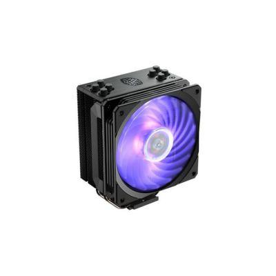 image Cooler Master Hyper 212 RGB Black Edition Système de refroidissement - 4 caloducs à contact direct continu avec ailettes, ventilateur SF120R RGB LED
