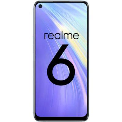 image REALME 6 Blanc Smartphone Débloqué 4G+ - (Ecran : 6,5 Pouces – 8 Go RAM – 128 Go ROM - Double Nano SIM - Android) [Version Française]