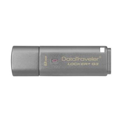 image Kingston Data Traveler Locker + G3 (DTLPG3/8GB) USB 3.0 Protection des données personnelles avec sauvegarde automatique dans le cloud