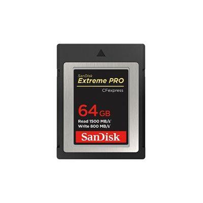 image SanDisk Extreme PRO CF Express Carte mémoire type B 64 Go (vitesses de lecture 1500 Mo/s, compatibilité XQD)