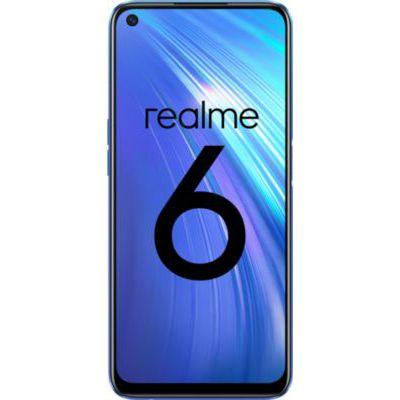 image REALME 6 Bleu Smartphone Débloqué 4G+ - (Ecran : 6,5 Pouces – 4 Go RAM – 128 Go ROM - Double Nano SIM - Android) [Version Française]