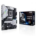 image produit ASUS PRIME Z490-A – Carte mère Intel Z490 LGA 1200 ATX, M.2 x2, 12+2 phases d'alimentation, DDR4 4600, HDMI, DisplayPort, Ethernet Intel 2.5Gb, USB 3.2 Gén.2 Type-A/C , Thunderbolt 3, RGB Aura Sync - livrable en France