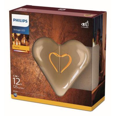 image Philips ampoule LED Heart Vintage Filament E27 23W Equivalent 12W Claire Ambrée Blanc chaud