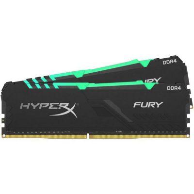 image HyperX Fury HX426C16FB3AK2/32 Mémoire RAM DIMM DDR4 32GB (Kit 2x16GB)2666MHz CL16 RGB