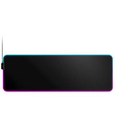 image SteelSeries QcK Prism Cloth - Tapis de souris de jeu en tissu - Éclairage RVB 2 zones - Éclairage événementiel en temps réel - Taille XL