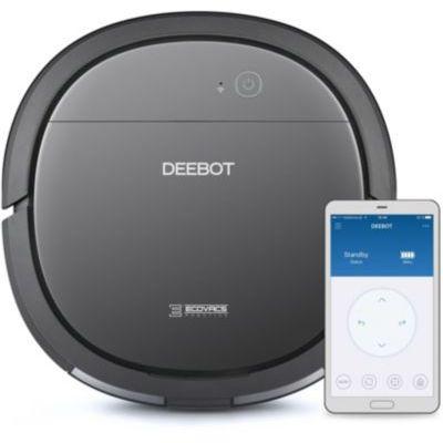 image ECOVACS DEEBOT OZMO Slim10 – Aspirateur Robot Nettoyeur Ultrafin pour Sols Durs, Aspirateur sans Fil Programmable via Smartphone et Compatible avec Amazon Alexa