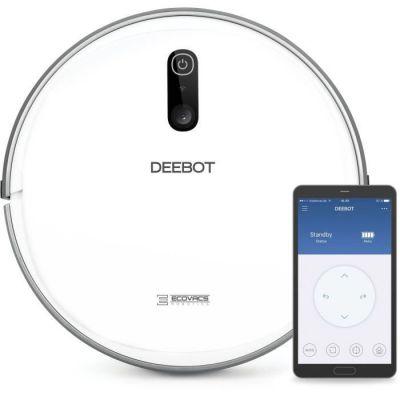 image ECOVACS DEEBOT 710 – Aspirateur robot avec technologie de cartographie – Pour sols durs et tapis – Aspirateur sans fil programmable via smartphone et compatible avec Amazon Alexa