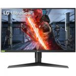 LG UltraGear 27GN750-B, Moniteur Gaming IPS FHD 27'' (1920x1080, 1ms, 240Hz, sRGB 99%, Gsync Compatible, FreeSync, HDMI, Display Port, USB 3.0, HDR, Ajustable Hauteur, Pivotable)
