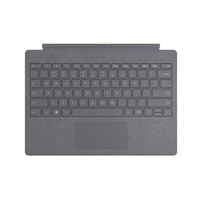 image Microsoft Clavier Signature Type Cover pour Surface Pro - compatible Surface Pro 3/4/5/6/7 (Alcantara, rétroéclairage LED, pavé tactile en verre) - Clavier AZERTY français - Anthracite