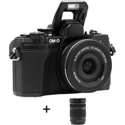 image Olympus E-M10 Mark III avec kit d'Objectifs 14-42 mm EZ et M.Zuiko Digital Ed 40-150 mm, Noir + Objectif Zuiko Digital 45 mm f:1:8 - Noir