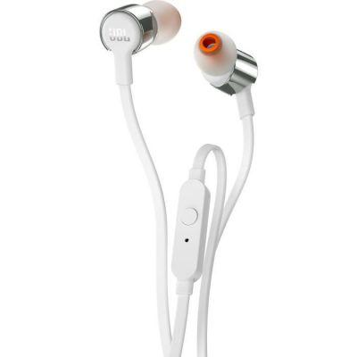 image JBL T210 Ecouteurs intra-auriculaires avec Bouton de Commande/Microphone Gris