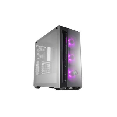 image produit Cooler Master MasterBox MB520 RGB - Boîtier Moyen tour PC Gamer ATX, panneau avant teinté, 3 x 120mm ventilateurs pré-installés, panneau latéral en verre, flexibles configurations de flux d'air - RGB - livrable en France