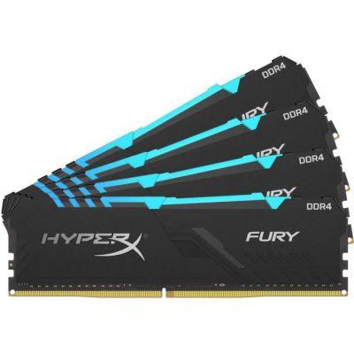 image HyperX Fury HX430C15FB3AK4/64 Mémoire RAM DIMM DDR4 64GB (Kit 4x16GB) 3000MHz CL15 RGB