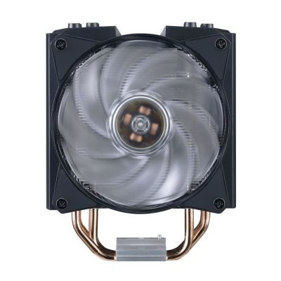 image Cooler Master - MasterAir MA410M RGB - Ventilateur Processeur (Intel & AMD), 2xVentilateurs MasterFan 120mm Air Balance RGB Adressable, Controleur RGB (inclus)