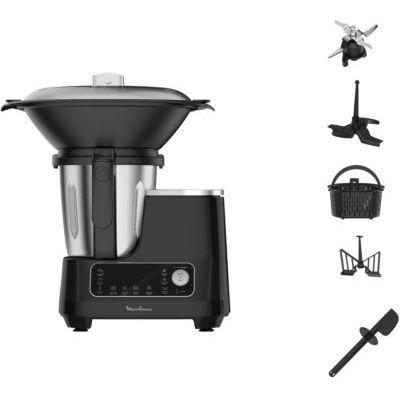 image MOULINEX CLICKCHEF Robot Cuiseur multifonction5 programmes automatiques Robot cuisine compact 25fonctionsBalance cuisine intégrée Cuiseur vapeur Batteur Mélangeur 3,6L 1400W HF456810