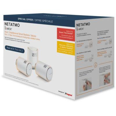 image Robinet thermostatique Netatmo Pack 3 Tetes thermostatiques Additionnel