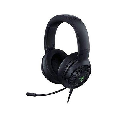 image Razer Kraken X USB: Casque de Jeu, Gaming Casque avec son surround numérique (son surround 7.1, microphone cardioïde flexible, ultra-léger) - Noir