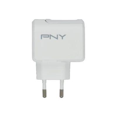 image PNY P-AC-TC-WEU01-RB Chargeur secteur mural pour Téléphone portable/Tablette/Appareil compatible Type C Blanc