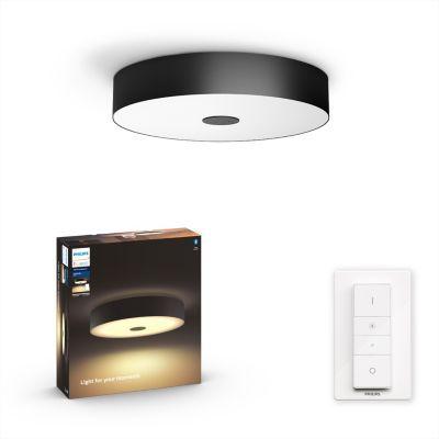 image Philips Lighting 8718696175149 Plafonnier, Verre, Noir