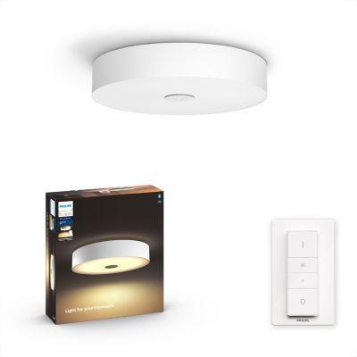 image Philips Lighting 8718696175132 Plafonnier, Verre, Blanc