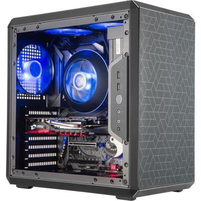 image COOLER MASTER Q500L Boîtier PC Gaming (ATX, Fenêtre, 2 Filtres Magnétiques) - Noir