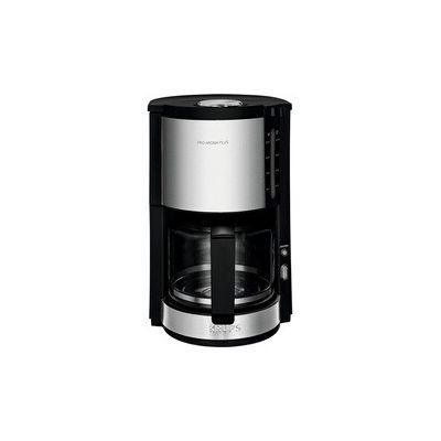 image Krups km321 Proaroma Plus machine à Café en Verre, 10 tasses, 1100 W, design moderne, noir avec applications en acier inoxydable.