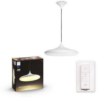 image Philips Hue White Ambiance CHER suspension 39W compatible Bluetooth - Blanc (télécommande incluse)