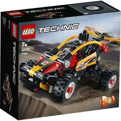 image produit LEGO Technic, Ensemble de construction buggy vers voiture de course 2in1, Collection de véhicules tout terrain et de course, 90 pièces, 42101 - livrable en France