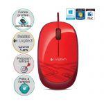 image produit Logitech M105 Souris Filaire USB, 3 Boutons, Suivi Optique 1000 PPP, Ambidextre, Compatible avec PC/Mac/Portable - Rouge - livrable en France