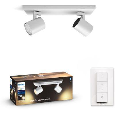 image produit Philips White Ambiance RUNNER Spot barre tube 2x5.5W - Blanc (télécommande incluse), compatible Bluetooth