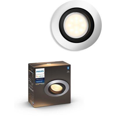 image Philips Hue White Ambiance MILLISKIN Spot encastré rond 1x5.5W extension - Blanc (télécommande non incluse), compatible Bluetooth