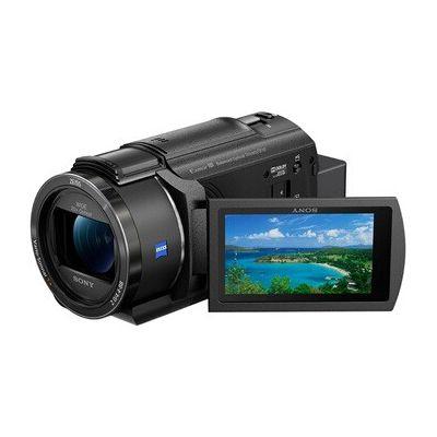 image Sony FDR-AX43 | Caméscope 4K Ultra HD, Stabilisation Optique, Micro directionnel, Ecran Orientable Tactile, Grand Angle 26,8 mm, capteur CMOS Exmor R, idéal Vidéo et Vlogging Noir