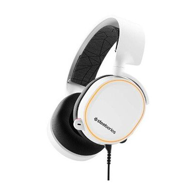 image SteelSeries Arctis 5 - Casque de Jeu à Éclairage RVB - Son Surround DTS Headphone:X v2.0 pour PC et PlayStation 4 - Blanc