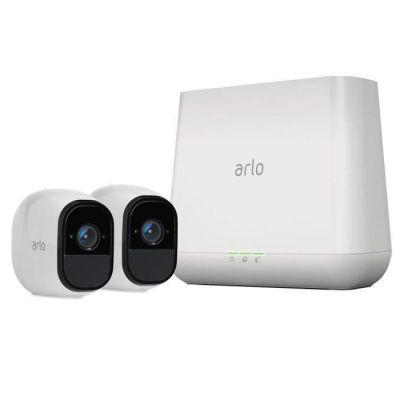 image Arlo Pro - Pack de 2 Caméras de Surveillance (720p, Jour/Nuit, Grand Angle + Sonnette Intelligente connectée Arlo Doorbell, Arlo Chime Inclus)