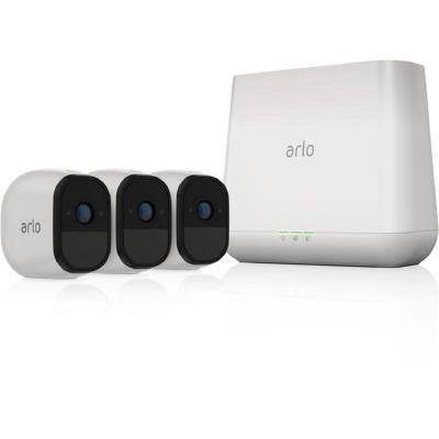 image Arlo Pro 2 | Caméra de Surveillance WiFi sans Fils - Pack de 3, Batteries Rechargeables & Accessoire Pro & Arlo Pro 2 - Panneau Solaire pour Caméra Arlo Pro et Arlo Pro 2 - Batteries Rechargées