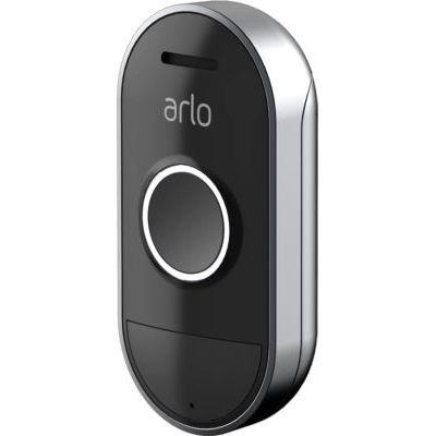 image Arlo AAD1001-100PES Doorbell Sonnette Intelligente, Étanche, Enregistrement Gratuit dans le Cloud, Compatible avec Arlo, Arlo Pro, Arlo Pro 2 et Arlo Ultra, Connectée sans fil, Noir, Blanc