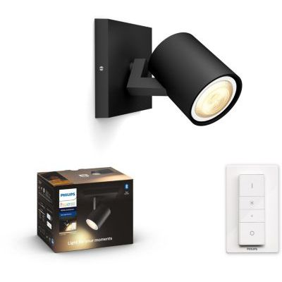 image produit Philips Lighting 915005915601 Spot Hue, Aluminium, Noir - livrable en France