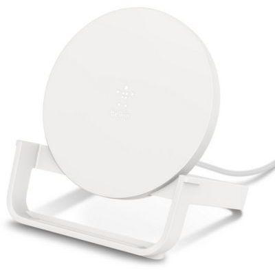 image Belkin Chargeur à induction BoostChargeStand 10W (chargeur sans fil rapide certifié Qi) - blanc