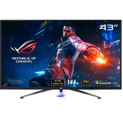 "image ASUS ROG PG43UQ - Ecran PC gaming 43"" 4K -Dalle VA - 144Hz - 1ms - 3840x2160 - 1000cd/m² - 2xHDMI, 2xDisplay Port et 2xUSB - Nvidia G-Sync - HDR 1000 - Haut-parleurs 2x10W -Display Stream Compression"