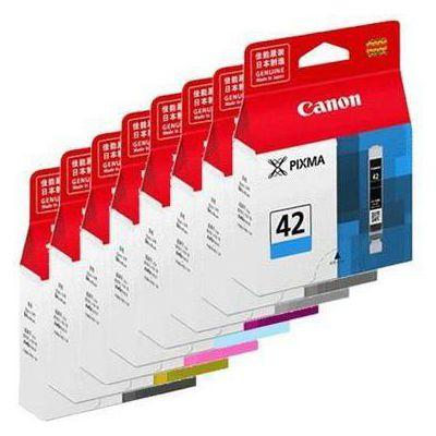 image Canon CLI-42 Cartouche BK/C/M/Y/PC/PM/GY/LGY Multipack Noir, Cyan, Magenta, Jaune, Photo Cyan, Photo Magenta, Gris, Gris Clair (Multipack plastique)