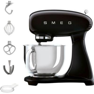 image Smeg SMF03BLEU Robot de cuisine SMF03BELU 800 W 4,8 L-6 fonctions, 800 W, acier inoxydable 18/8, 10 vitesses, aluminium, noir